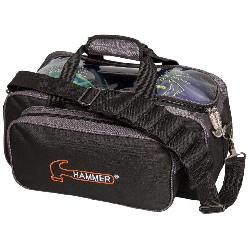 Hammer Double Tote Carbon 2 Ball Bowling Bag