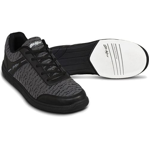 KR Strikeforce Mens Flyer Mesh Black/Steel Universal Bowling Shoes