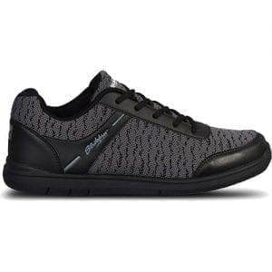 KR Strikeforce Mens Flyer Mesh Black/Steel Universal Bowling Shoes