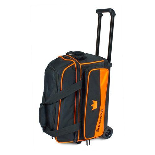 Brunswick Zone Double 2 Ball Roller Orange Bowling Bag