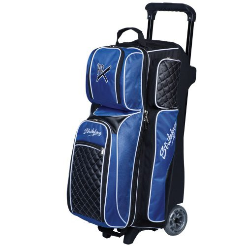 Black//Cobalt by Brunswick Team Brunswick 3 Ball Deluxe Roller Bowling Bag
