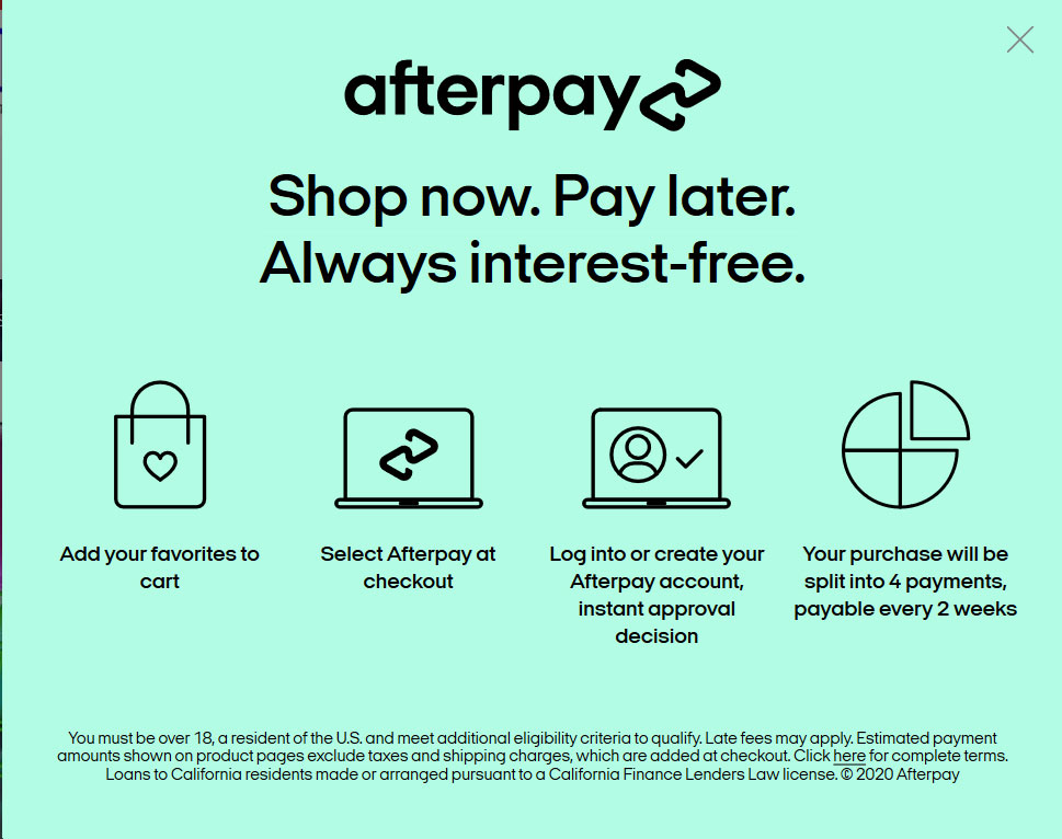 Afterpay Payments at BowlersMart